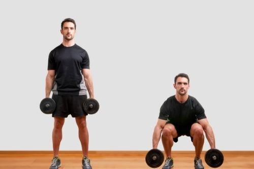 Тренировки за гърди и крака с гири в домашни условия.