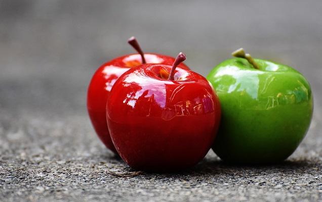 Червени вместо зелени ябълки, диня вместо пъпеш, червено грозде вместо зелено.