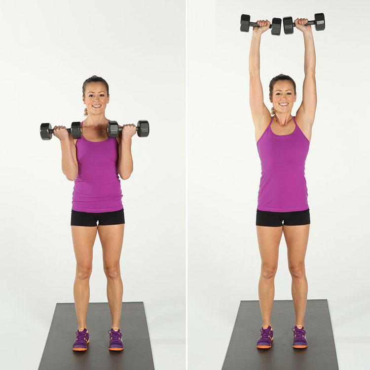 Изолиращи вдигания за една група мускули за жени.