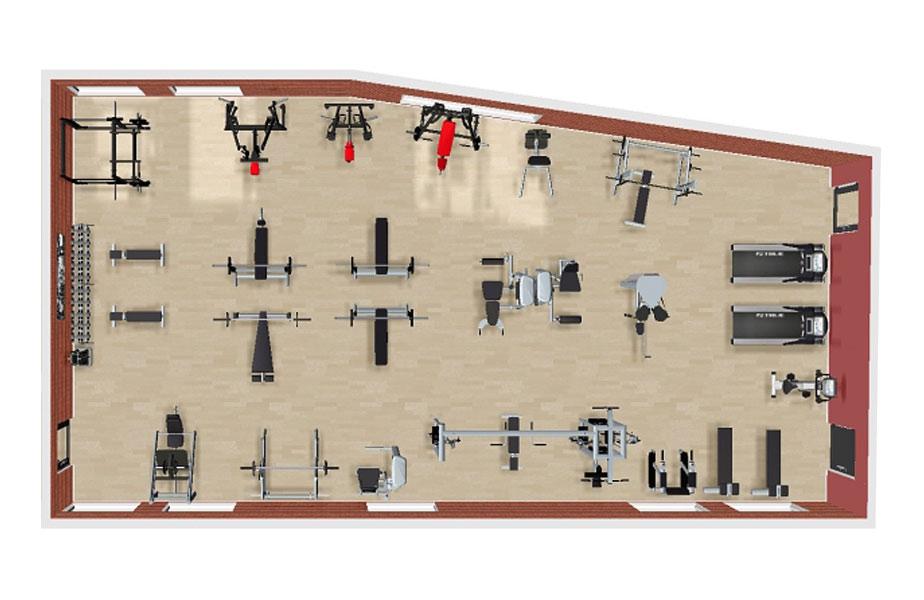 Как се разпределят фитнес уредите по зони в спортния клуб?