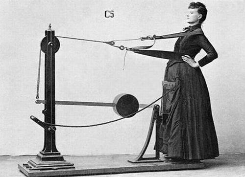 В миналото жените също са тренирали на тренажори, но отделно от мъжете.