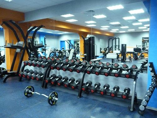 Във всяка фитнес зала трябва да има достатъчно свободни тежести - гири, дискове, дъмбели.