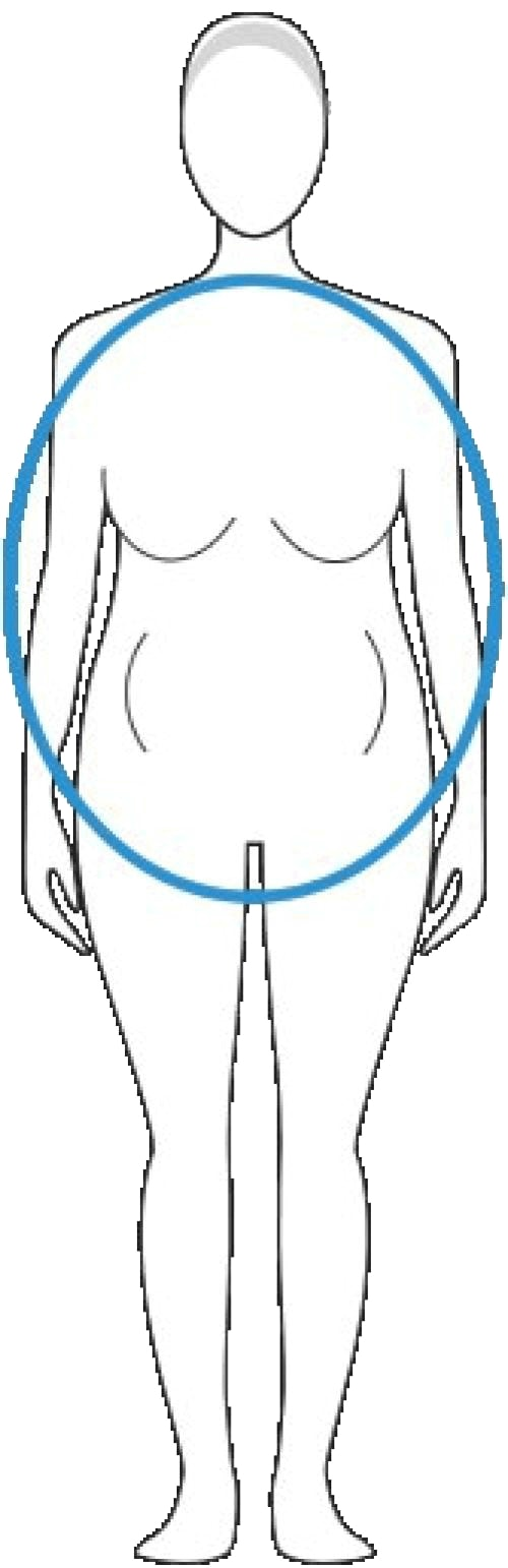 Отслабване с правилни храни и упражнения в бедрата и задните части при фигура тип ябълка.