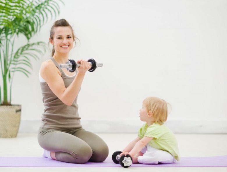 Силови тренировки за отслабване и стягане на фигурата след бременността.