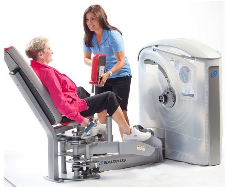 Nautilus има уреди за рехабилитация, силови и кардио тренировки.