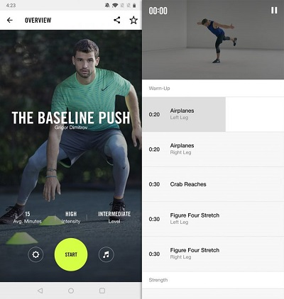 Nike Training Club е оправдано едно от най-добрите тренировъчни приложения