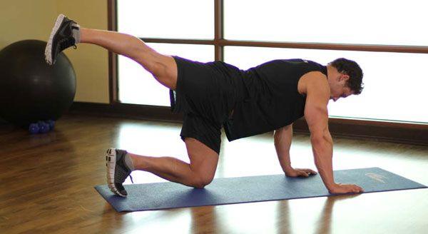 Упражнения за мъже за отслабване в бедрата.